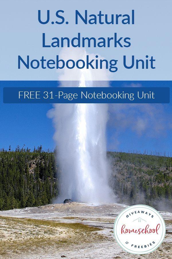 FREE U.S. Natural Landmarks Notebooking Journal