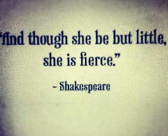i am little.. but def fierce !