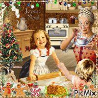 Noel avec grand maman