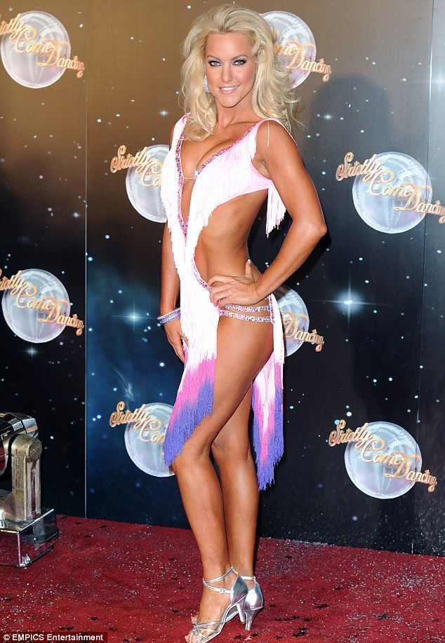 Setting the tone: Natalie wore a particularly revealing outfit at the launch of Strictly earlier this week