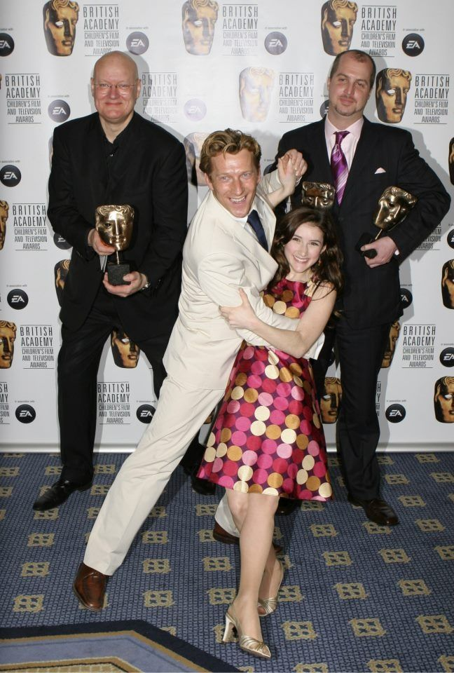 "Magnus Scheving (""Sportacus"") & Julianna Rose Mauriello (""Stephanie""), lead actors from children's show, ""Lazytown""."