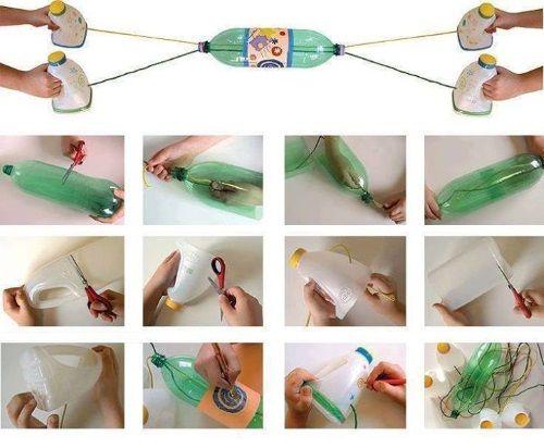 Resultado de imagen de juguetes caseros reciclados