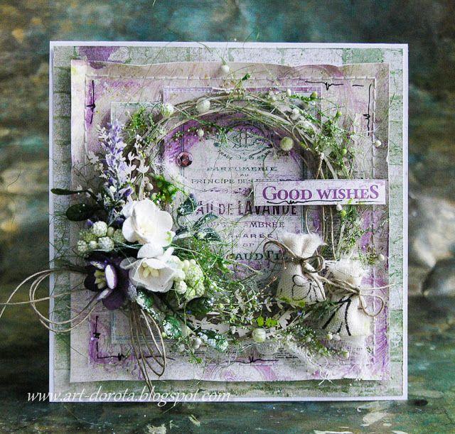 Dorota_mk: Kolejne kartki z kolekcji Provence