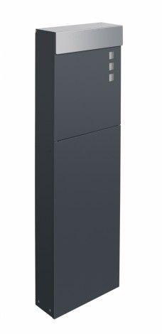 Frabox Standbriefkasten NAMUR EXKLUSIV Anthrazitgrau / Edelstahl von frabox - MK-DB1050-Q.VA-7016 online kaufen in unserem Shop | www.bruh.de