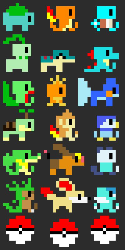 pokemon minimalistic pixelart hd - photo #33