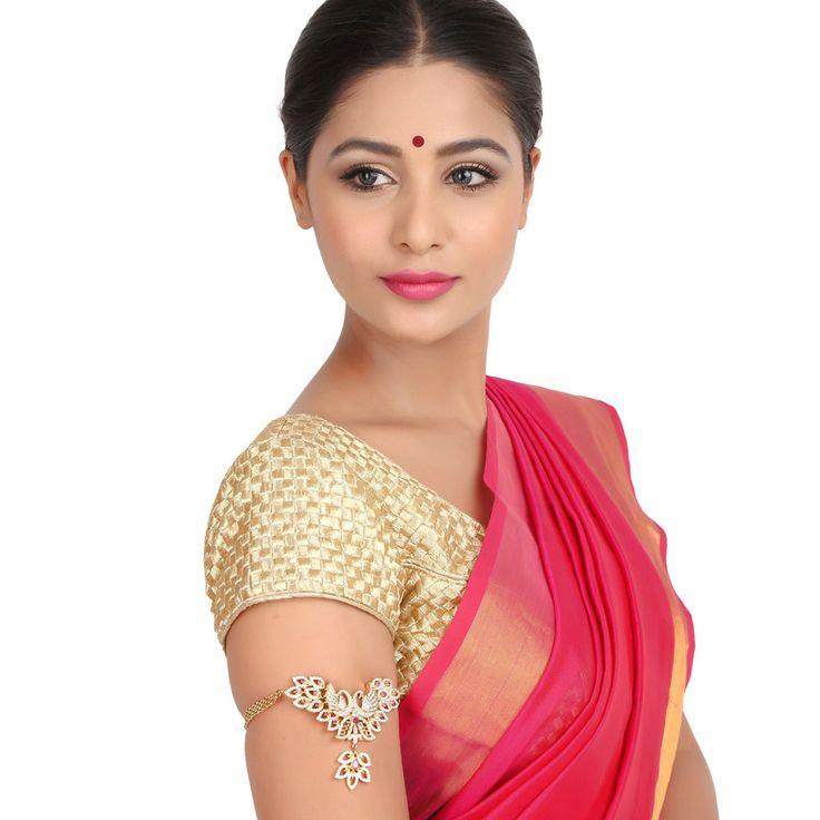 Zircon Bajuband 56955R #Kushals #Jewellery #Fashion #Indian #Jewellery #Wedding #Accessories #BajuBand #Zircon #Festive