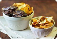 Hausgemachte Kartoffel- und Gemüsechips