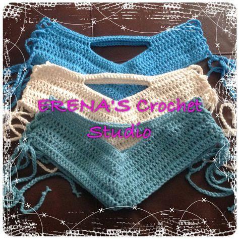 Crochet Bikini shorts most size fits all by ErenaCrochetStudio