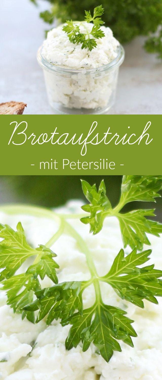 Herzhaft und Vegetarisch: Leckerer Feta Aufstrich mit Petersilie und Oliven. Ideal auf frisches Brot oder als Dip zum Grillen