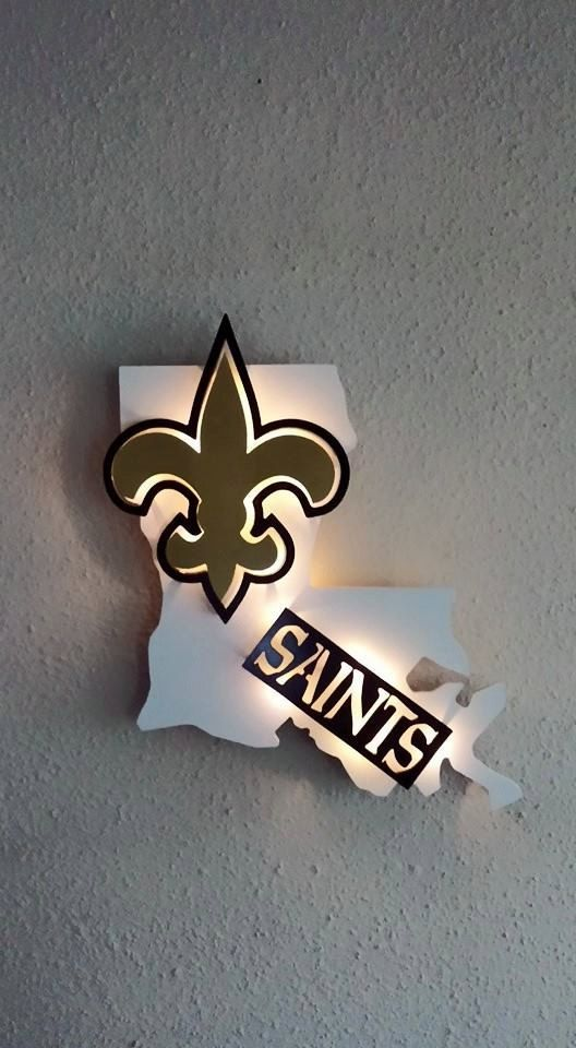 New Orleans Saints Man Cave Decor : Louisiana new orleans saints inspired d by