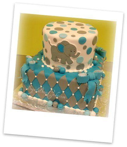 Elephant theme baby shower cake. Omg!!! So cute!!  I love elephants.