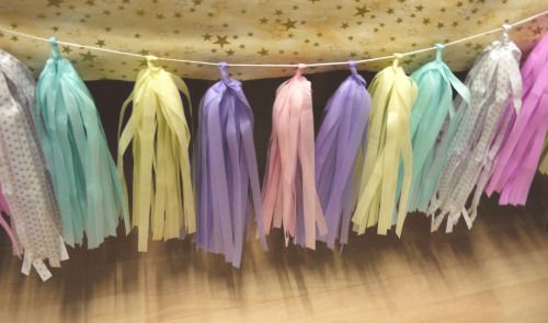 Getting tassel garland ready to rock…  Bespoke paper decorations available now shop link via website    Scottish party decor by Paper Street Dolls Luxury handmade paper decorations