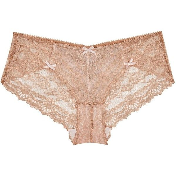 Womens Briefs Myla Nicole Caramel Lace Briefs ($77) ❤ liked on Polyvore featuring intimates y panties