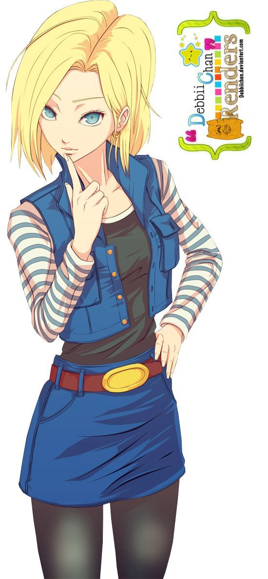 Android 18/Androide 18 Render ~ by debbiichan - Visit now for 3D Dragon Ball Z compression shirts now on sale! #dragonball #dbz #dragonballsuper