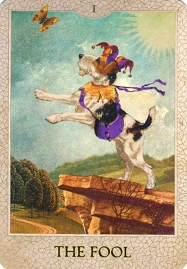 Fool from the Dog Tarot
