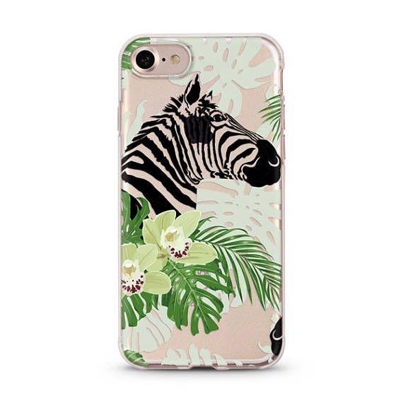 Tropical Zebra iPhone 6 case, iphone 6s case transparent clear case