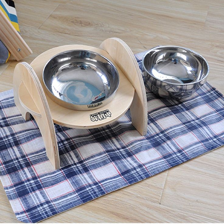==> [Free Shipping] Buy Best Anti-skid Dog Cat Food Water Bowl Wooden Pet Feeding Tool Stainless Steel Travel Dog Feeder Mascota Perro Pet Product Online with LOWEST Price | 32810365797