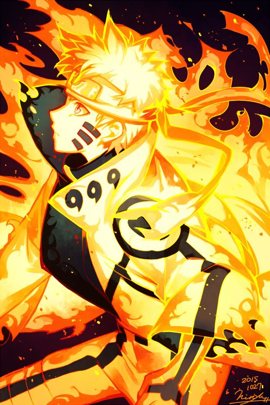 Illustration Collection Uzumaki Naruto Naruto Kyuubi Mode Drawings Of Naruto Pinterest