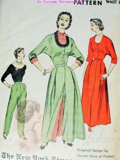 broek en rode jurk