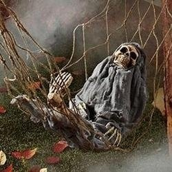 skeleton bones are one of the most popular decoration during halloween this together with sound effects and animation will surely scare people around