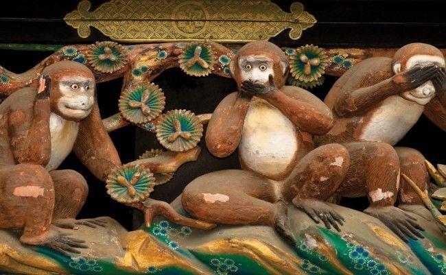 mizaru kikazaru iwazaru les trois singes de la sagesse  three monkeys http://mahequentin.com/blog