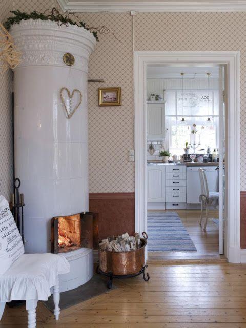 Schöner Wohnen, Ofen Kamin, Kamine, Schwedisch, Innenausbau, Wohnzimmer,  Schwedisch Stil, Skandinavische Weihnachts, Scandinavian Interior Design