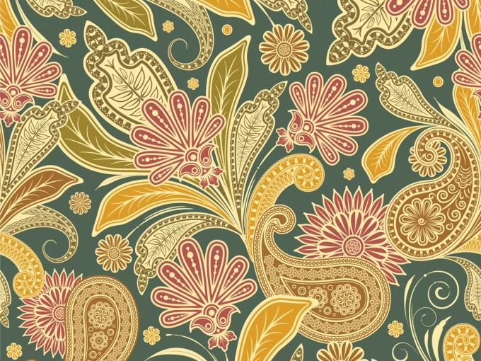 Vintage Floral Design PPT Backgrounds