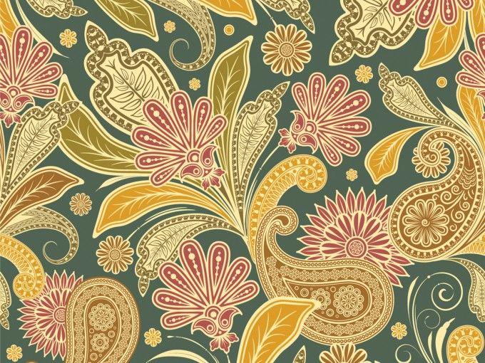 vintage floral design ppt backgrounds