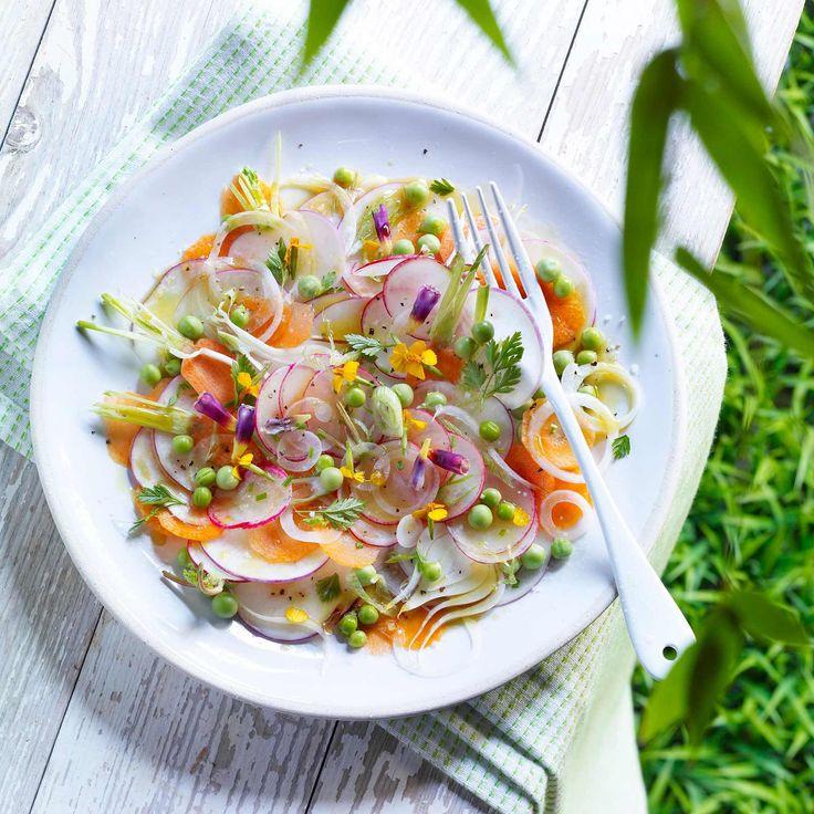Découvrez la recette Carpaccio de jardinière sur cuisineactuelle.fr.