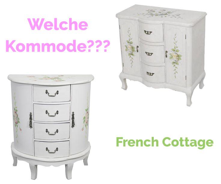 Heute präsentieren wir 2 Kommode in verschiedenen Formen. Sehen Sie. Welche können Sie auswählen, beide sind aus der neuen Kollektion French Cottage.  #Kommode #Anrichte #Schrank #French Cottage