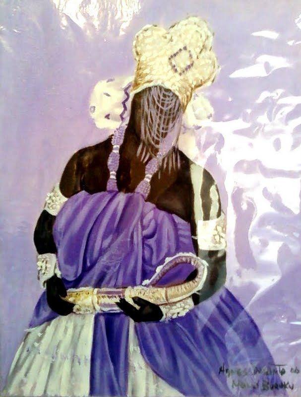 Nanã, orixá feminino dos pântanos e da morte. Protege idosos e desabrigados. Também dona da chuva e da lama. É mãe de Obaluaiê e junto com ele, dona das doenças cancerígenas. Mais velha orixá do panteão africano. Nanã Buruku - Nanã Buruquê - Marco de Bará Lode
