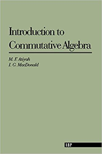 Resultado de imagen de introduction to commutative algebra atiyah