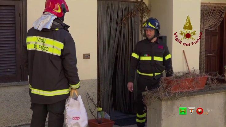 Vigili del Fuoco - Norcia - Recupero beni personali da abitazione privat...