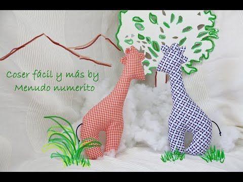 """El blog de """"Coser fácil y más by Menudo numerito"""" - Costura creativa: Cómo hacer una jirafa de trapo"""