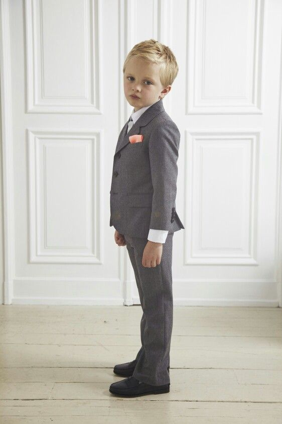 3f3ddd3ae Ring bearers in charcoal suits