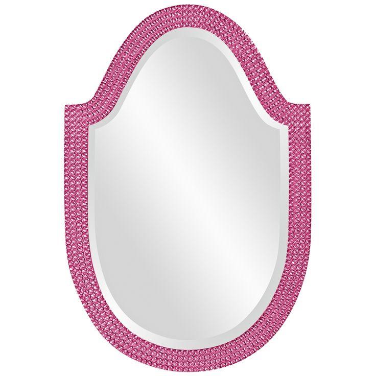 "Howard Elliott Lancelot 21"" x 32"" Hot Pink Wall Mirror - Style # 5J994"