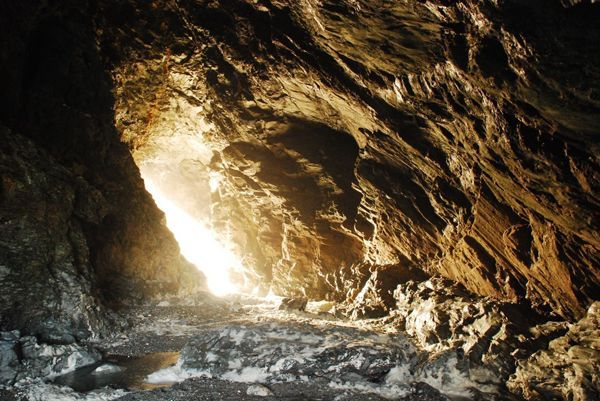Merlin's Cave in Tintagel: home of the King Arthur legend