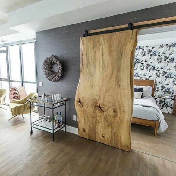 barn door – wood slab #WoodWorking