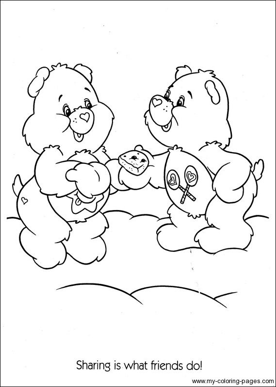 share bear coloring pages - photo#22