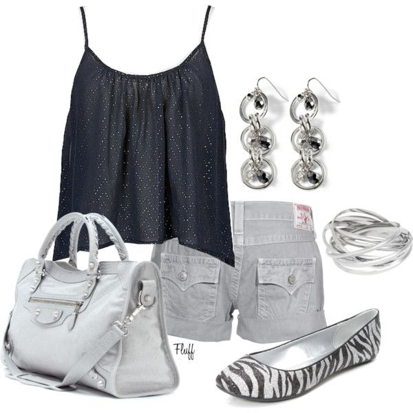 Summer OutfitCargo Shorts, Fit Outfit, Summer Outfit, Clothing, Zebras Flats, Springsummer Style, Silver Bangles, Sparkle, Cute Outfit