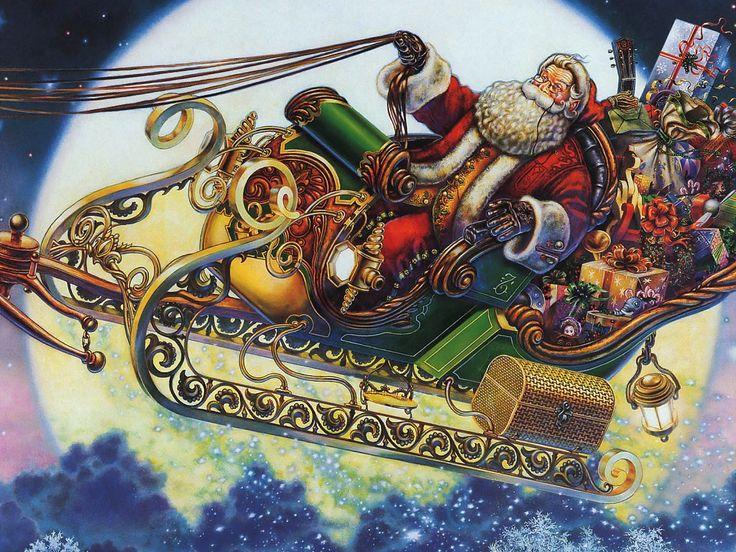 myles pinkney | Myles Pinkney - Calendrier 2002 - 14 - Santa's Sleigh.jpg