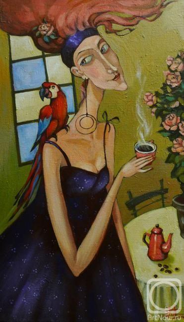 Панина Кира. Черный кофе и красный попугай