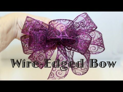 Making a Wire-Edged Ribbon Bow | ThriftyFun