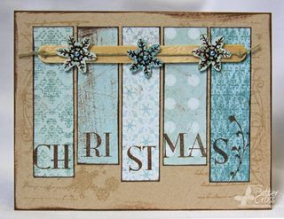 Love this homemade Christmas Card - wish I had this kind of creativity!