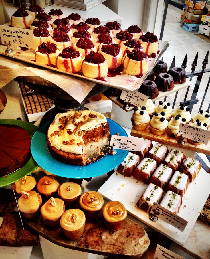 Ottolenghi cakes in Notting Hill