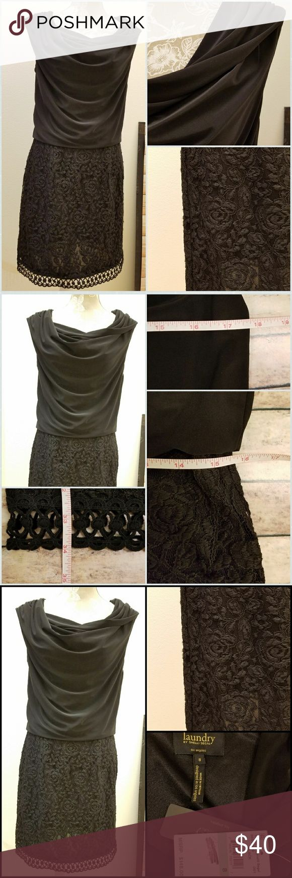New Listing 🐙 Laundry by Shelli Segal Black Dress New with tags gorgeous little black dress by Laundry by Shelli Segal. Measurements pictured, a stunning date or formal dress ready to throw on and go. Laundry By Shelli Segal Dresses Midi