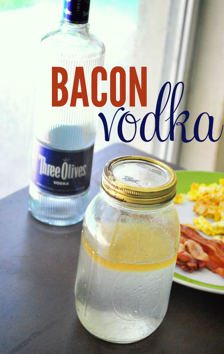 Make your own bacon vodka by infusing unflavored vodka with bacon. This seems easy enough to try!