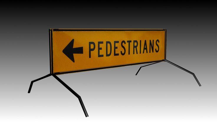 3D Road Pedestrians Sign - 3D Model