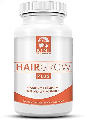 Hair Vitamins - Hair Grow Plus - Scientifically Formulated Hair Growth Supplement with Biotin, All Natural Hair Vitamin Supplement Stimulates Healthy Hair in Both Men and Women, Made in the USA