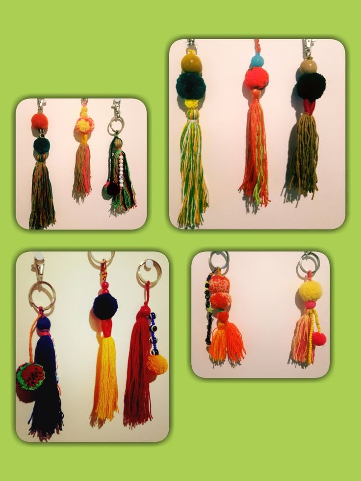 #KeyChain #pompom 💚💚💚 #ideas #souvenires #Colombia